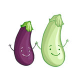Funny vegetables  icon set Royalty Free Stock Images