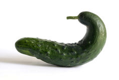 Funny vegetables series - Cucumber Royalty Free Stock Photography