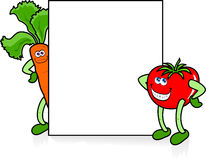Free Funny Vegetables With Sign Stock Images - 14446314