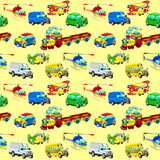 Funny vehicles with background. royalty free stock images