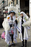 Funny Venice costume. Picture says everything. Original and funny idea for carnival Stock Images