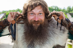 Funny viking Royalty Free Stock Photo