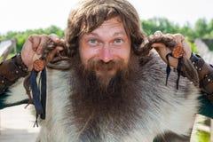 Funny viking Royalty Free Stock Photo