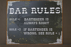 Funny vintage bar sign Royalty Free Stock Images