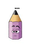 Funny violet pencil Stock Image