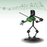 Funny violin player Stock Image