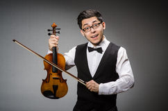 Funny violin player Royalty Free Stock Image