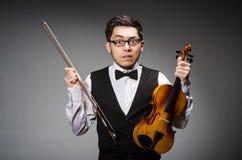 Funny violin player Royalty Free Stock Photos