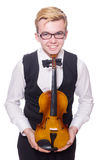Funny violin player Royalty Free Stock Photo