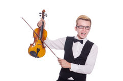 Funny violin player Royalty Free Stock Images