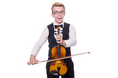 Funny violin player Stock Photography
