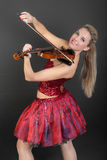 Funny violinist Stock Photos