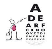 Funny vision test. Eye doctor doing a vision test to the patient Stock Image