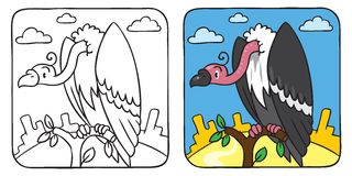 Funny vulture coloring book Royalty Free Stock Photos