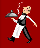 Funny Waiter Stock Photo