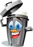 Funny wastebasket Royalty Free Stock Photo