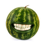 Funny watermelon Stock Photography