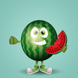Funny watermelon Royalty Free Stock Images