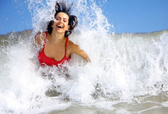 Funny waves Stock Photos
