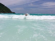 Funny waves!!! Stock Photos
