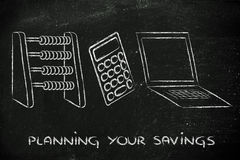 Funny way to plan savings or set a budget Stock Images
