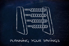 Funny way to plan savings or set a budget Royalty Free Stock Image