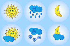 Funny weather for young children Royalty Free Stock Image