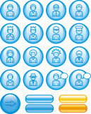 Funny Web Icons Set – People (Vector) Royalty Free Stock Photo