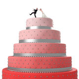 Funny Wedding Cake Royalty Free Stock Photo