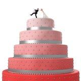 Funny wedding cake Royalty Free Stock Photo