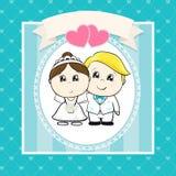 Funny wedding invitation vector illustration