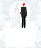 Funny wedding invitation Royalty Free Stock Photo