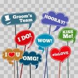 Funny weddings phrases Stock Photo