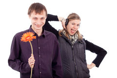 Funny weird couple Royalty Free Stock Photography