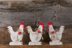 Funny Welcome White Chicken Rooster Country Cottage Kitchen Wood Royalty Free Stock Photos
