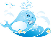 Funny whale is made of water drop Royalty Free Stock Photography