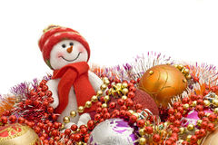 Funny white snowman Royalty Free Stock Images