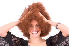 Funny wig Stock Photos