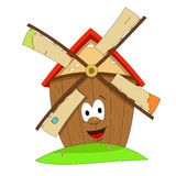 Funny windmill Royalty Free Stock Images