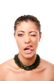 Funny winking with tongue Royalty Free Stock Photos