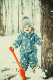Funny winter boy Royalty Free Stock Photography
