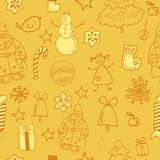 Funny winter christmas  seamless pattern Royalty Free Stock Photo