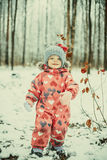 Funny winter girl Stock Image
