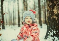 Funny winter girl Stock Photos