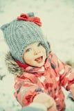 Funny winter girl Royalty Free Stock Photos