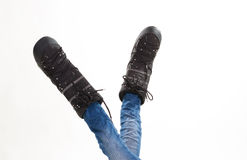 Funny winter shoes. Stock Photo