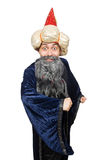 Funny wise wizard isolated Stock Photos