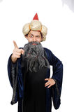 Funny wise wizard Stock Image