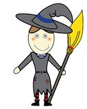 Funny witch Stock Image