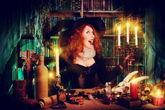 Funny witch Stock Photography